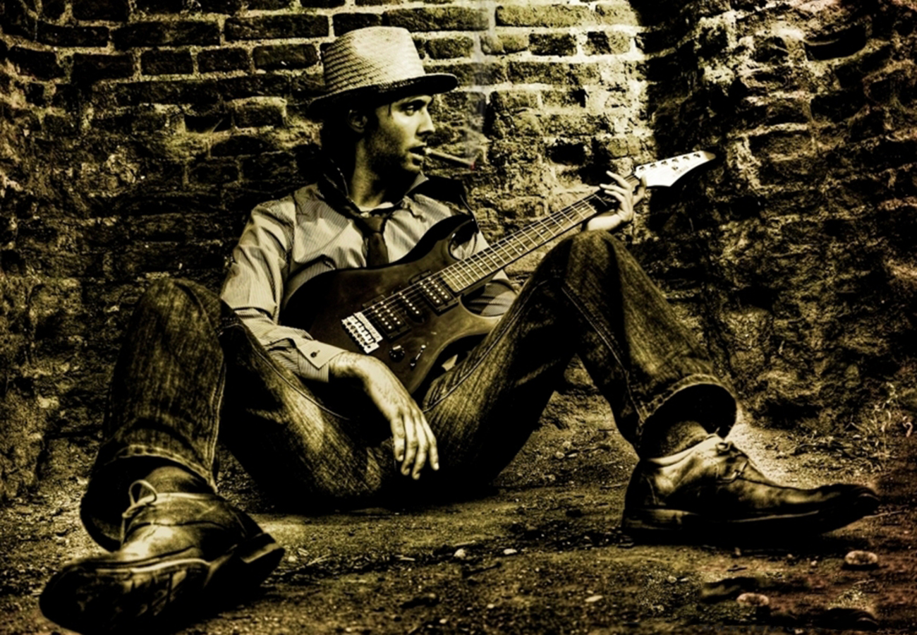 daniel_davies_two_d_photography_commercial_video_music_band_guitarist_sepia_cowboy